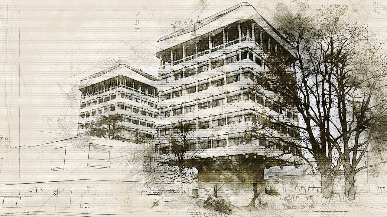 architecture, graphic, drawing